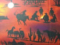 CR0012 Cowboy Campfire Silhouetted Theme Cotton Wild Rag