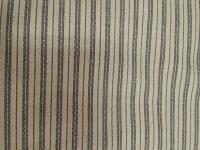 0199 Navy Stripes on Natural Cotton Wild Rag 42 by 42