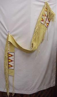 Buckskin Rifle Case with Mountain Beading Design