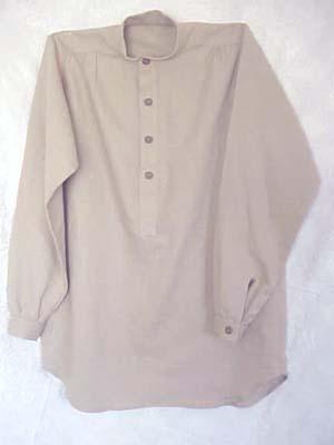 Band Collar Shirt Linen Tan Xs Bcshirttanlinenxs