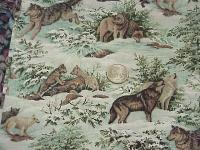 CR0021 Wolves, Wolf Pups and More Wolves Cotton Wild Rag