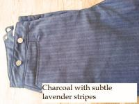 Classic Old West Styles Pants- Charcoal Grey with Faint Lavender Stripes
