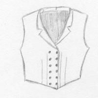 Ladies Double Breasted Vest with Notched Collar