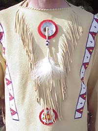 A-10 Northern Plains Old Style Buckskin Shirt