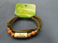 Bamboo Bead with Porcelain Choker Necklace- Pole Bender
