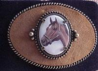 Porcelain Buckle with Bay Horse Head