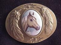 Porcelain Buckle with Palamino Head