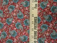 0172 Blue Multi Colored Design on Red Flannel Cotton Wild Rag