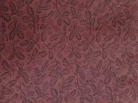 0235A Black Leaves on Reddish Brown Cotton Wild Rag 28 by 28