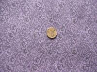 0221B Black Floral Print on Deep Purple Brushed Cotton Print Smaller Wild Rag 21 by 21