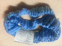 017 Light Blue Print on Medium Blue Pair of Cotton Sleeve Garters