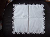 Ivory Hand Tatted Hankie
