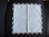 Ivory Hand Tatted Hankie 2