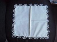White & Blue Hand Tatted Hankie 4