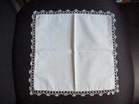 Ivory Hand Tatted Hankie 5