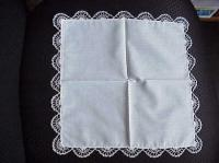 White & Blue Hand Tatted Hankie