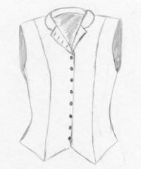 Ladies Outing Vest with Pointed Front