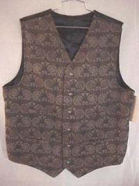 Vest- Tombsone Style in Tapestry-Size between L and XL Tall