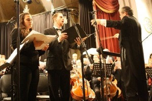 Conductor Elli Jaffe with Soloists Oded Reich and Atalya Tirosh